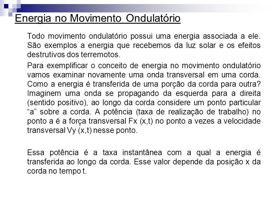 Energia no Movimento Ondulatório