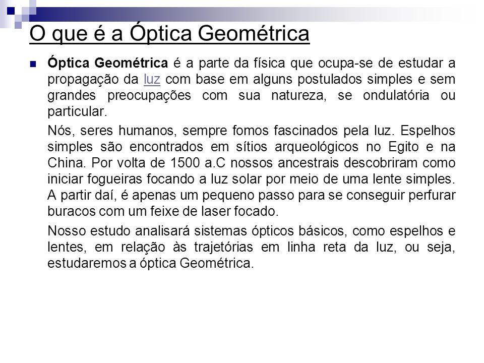 O que é a Óptica Geométrica