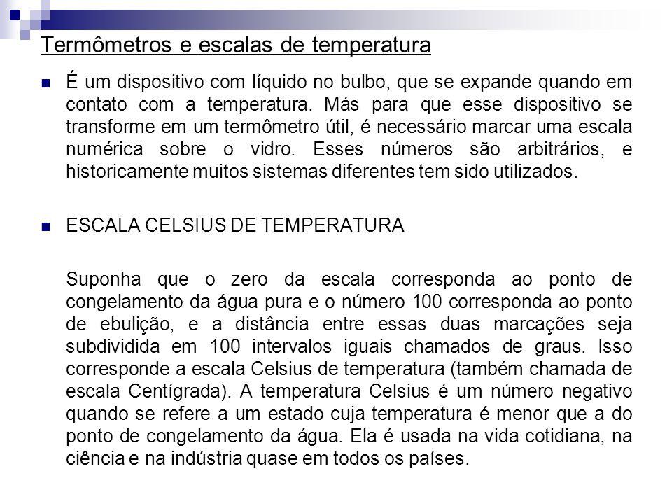 Termômetros e escalas de temperatura