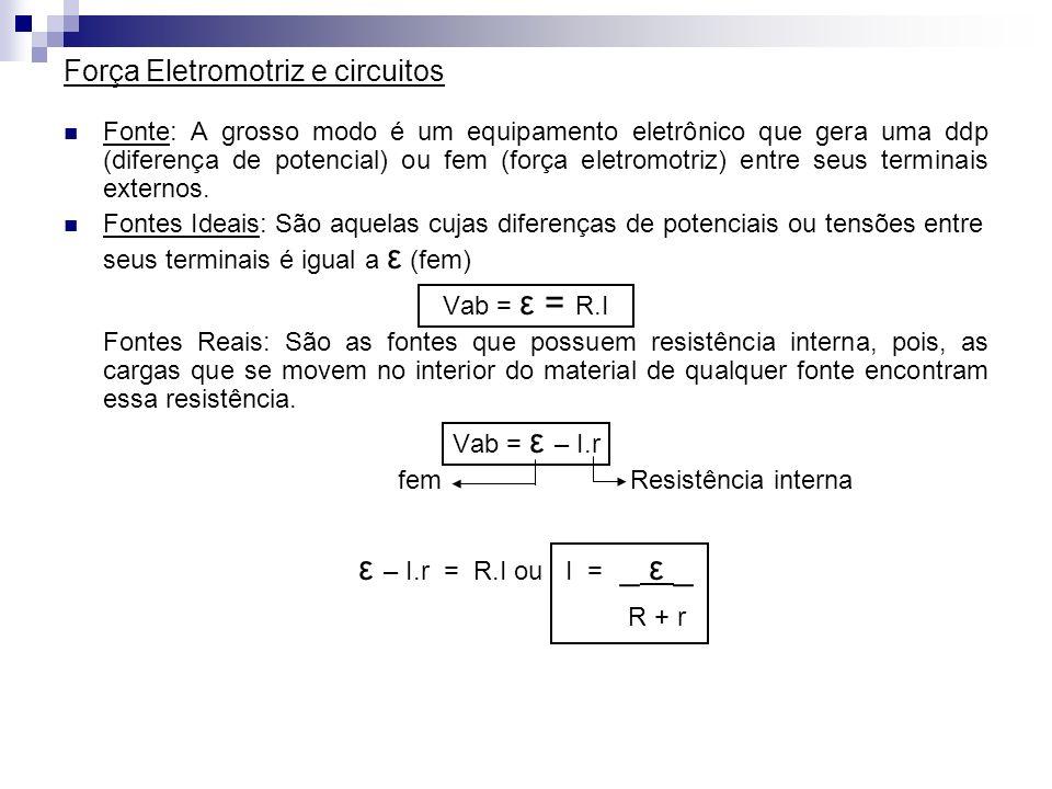 Força Eletromotriz e circuitos