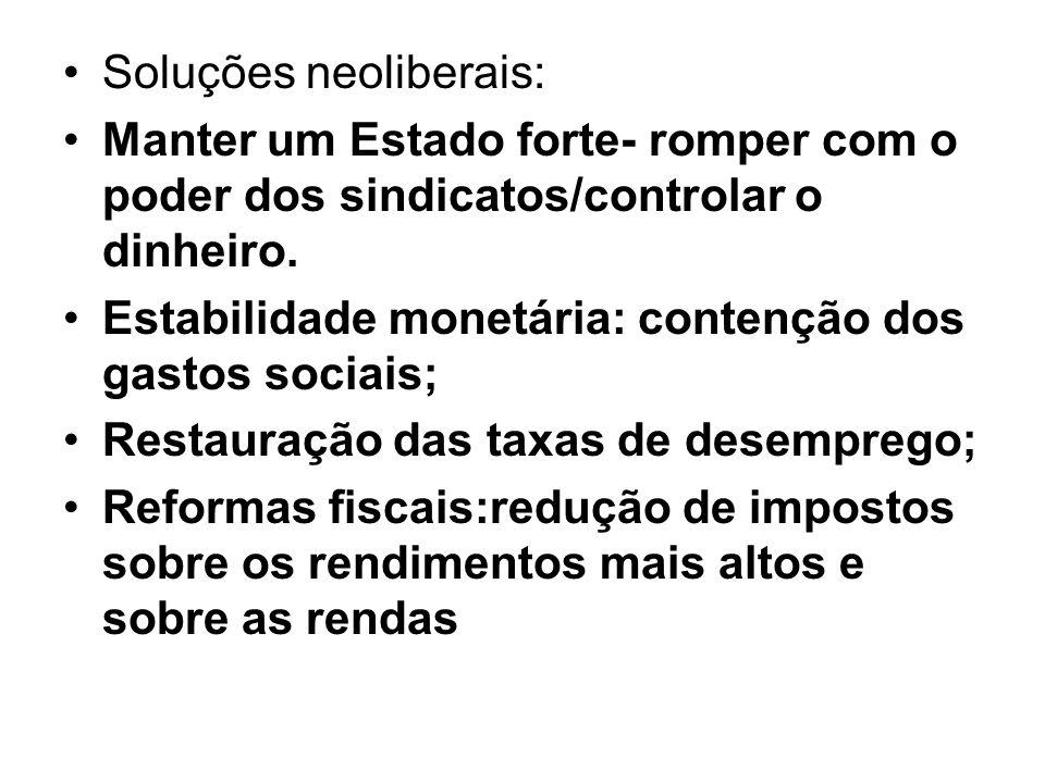 Soluções neoliberais: