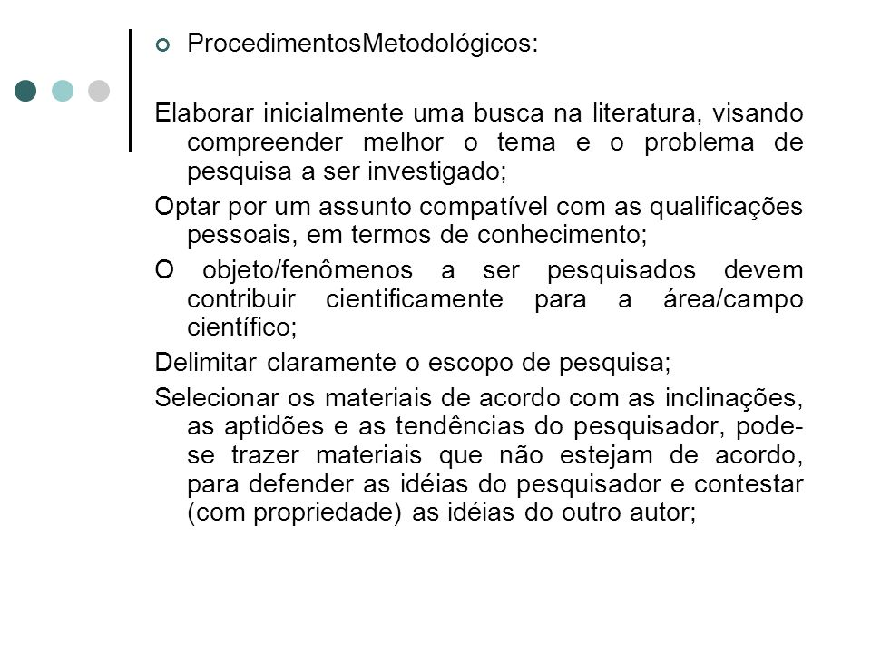 ProcedimentosMetodológicos: