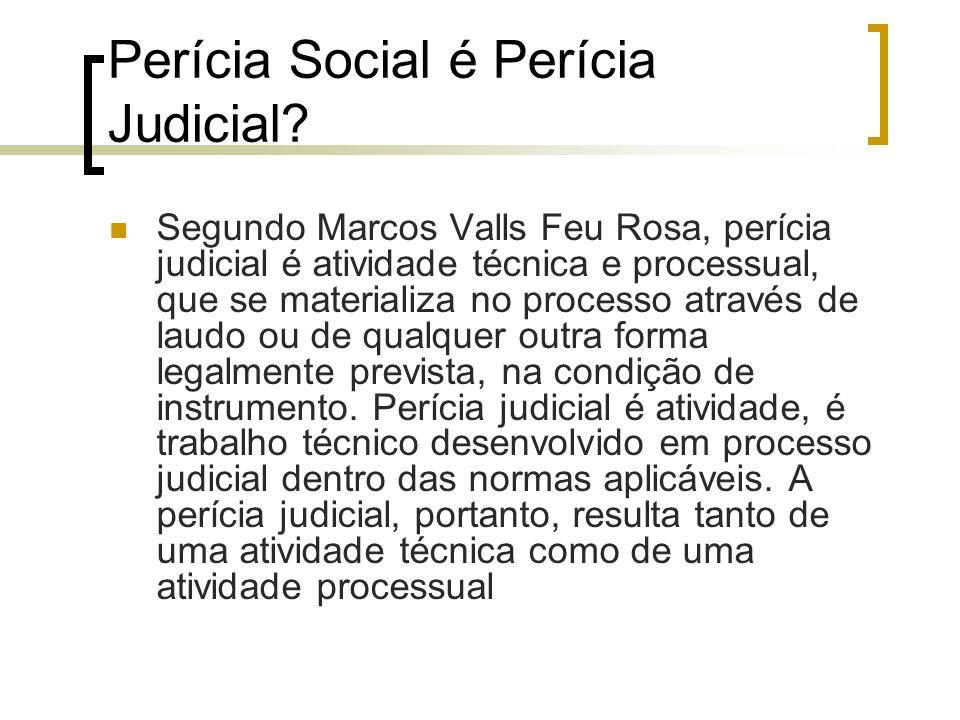 Perícia Social é Perícia Judicial