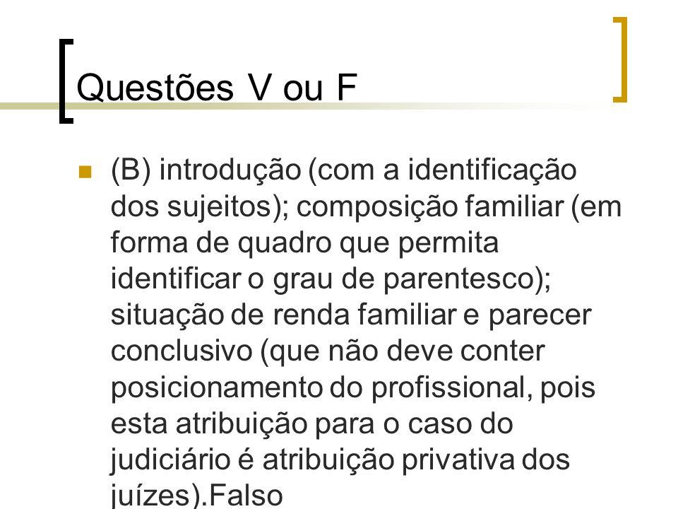 Questões V ou F