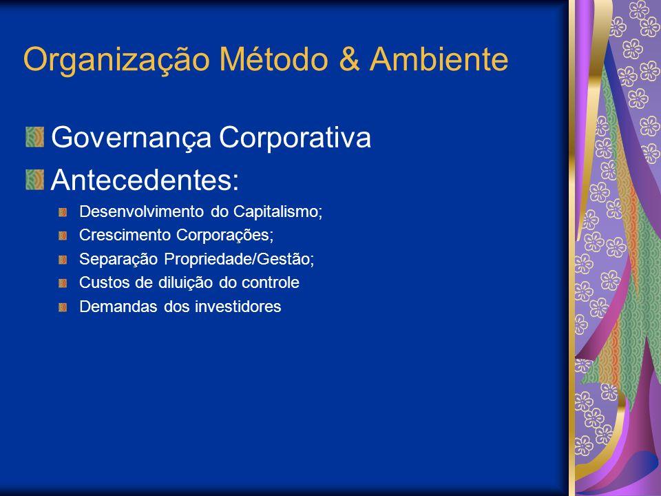 Organização Método & Ambiente