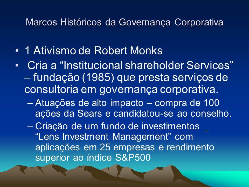 Marcos Históricos da Governança Corporativa