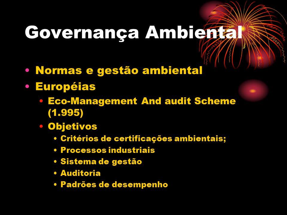 Governança Ambiental Normas e gestão ambiental Européias