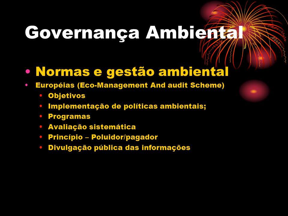Governança Ambiental Normas e gestão ambiental