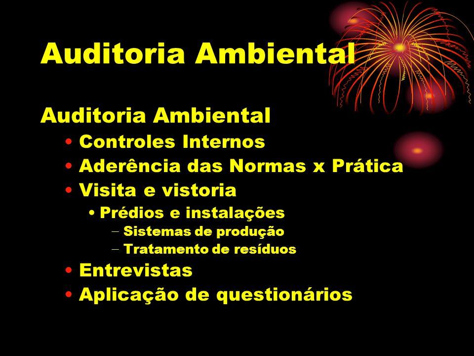 Auditoria Ambiental Auditoria Ambiental Controles Internos