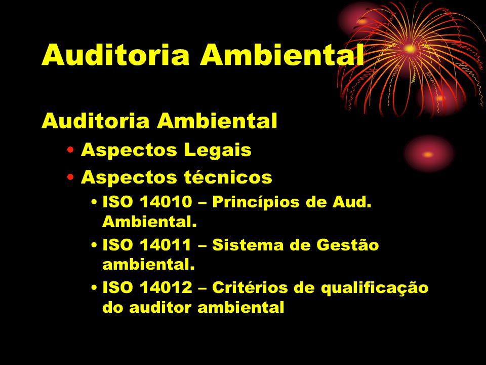 Auditoria Ambiental Auditoria Ambiental Aspectos Legais