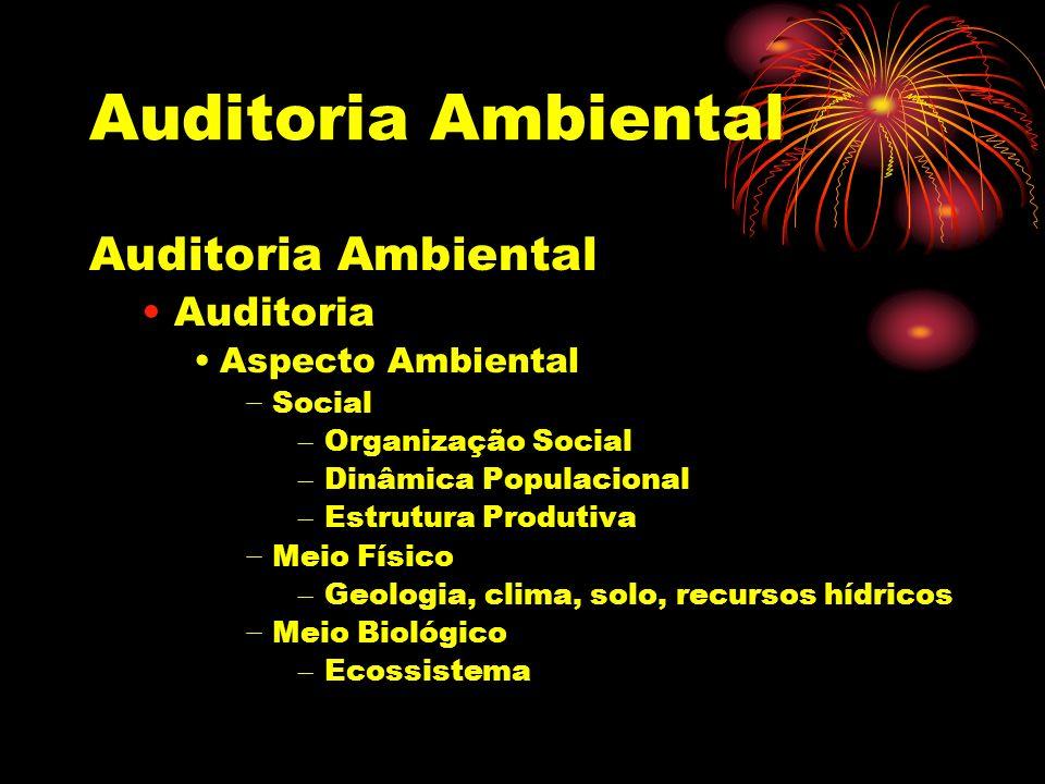 Auditoria Ambiental Auditoria Ambiental Auditoria Aspecto Ambiental