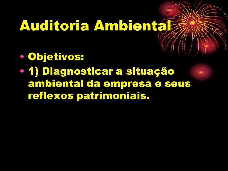 Auditoria Ambiental Objetivos: