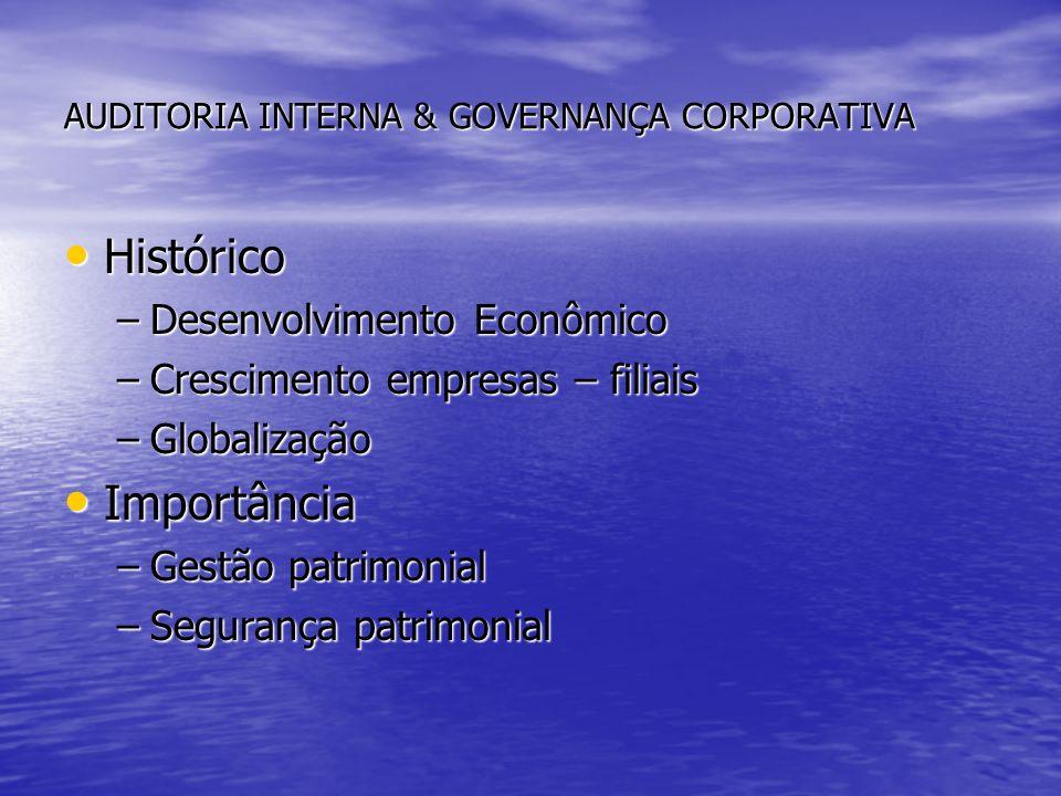 AUDITORIA INTERNA & GOVERNANÇA CORPORATIVA