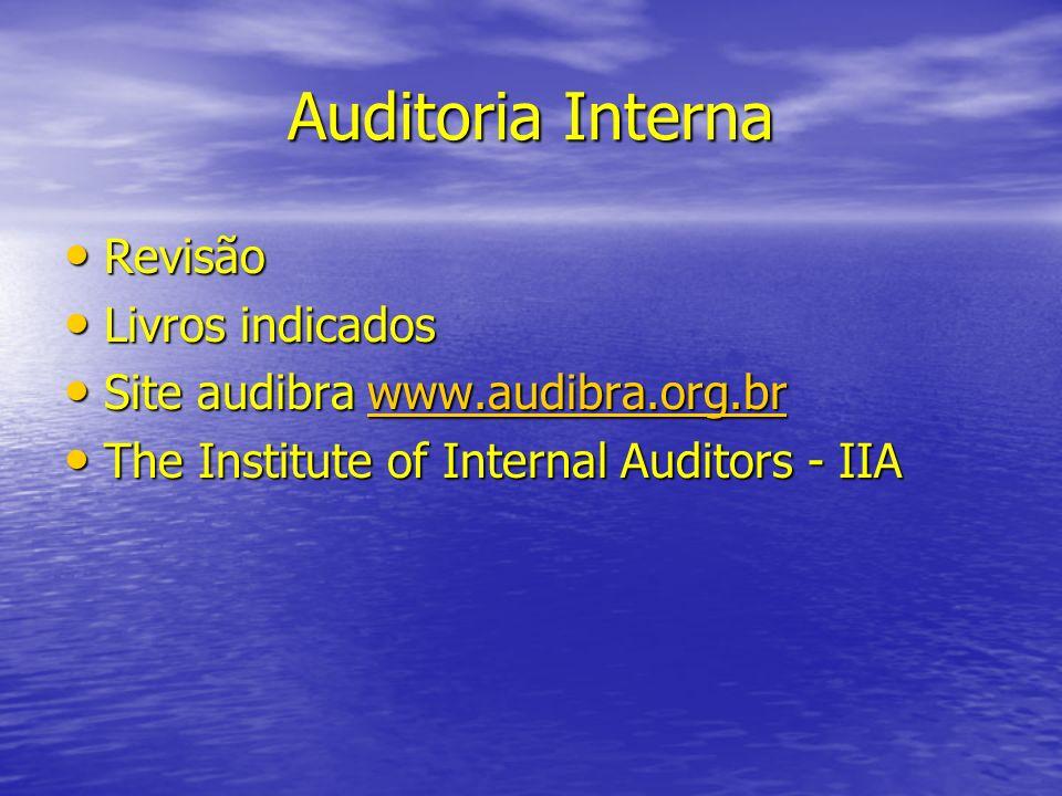 Auditoria Interna Revisão Livros indicados