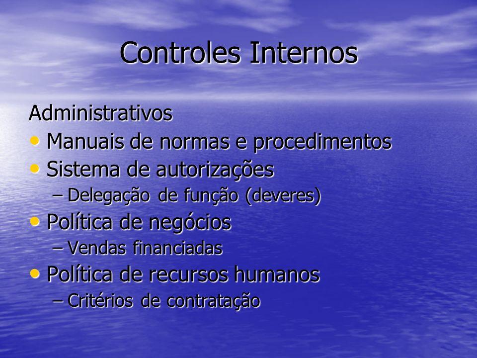 Controles Internos Administrativos Manuais de normas e procedimentos