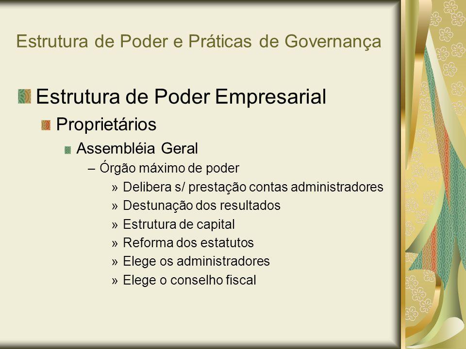 Estrutura de Poder e Práticas de Governança