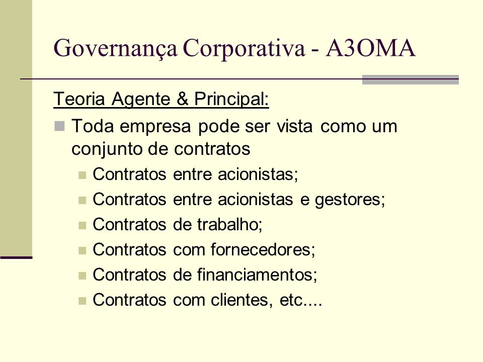Governança Corporativa - A3OMA