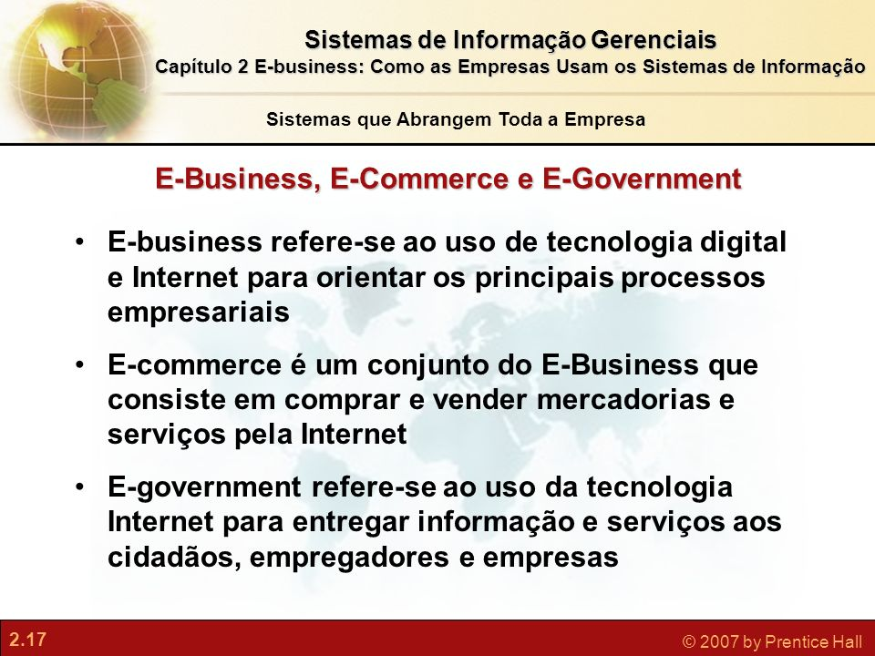 E-Business, E-Commerce e E-Government