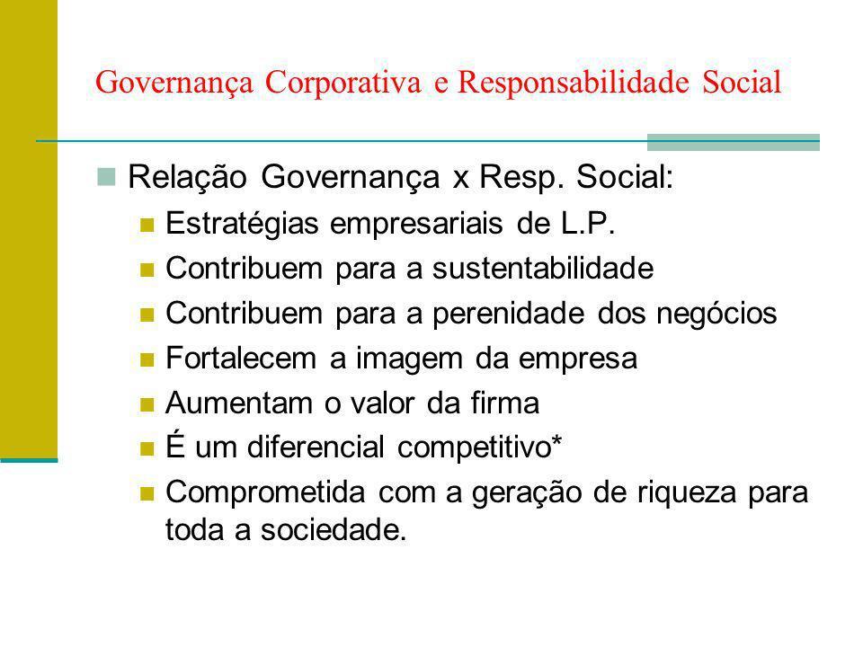 Governança Corporativa e Responsabilidade Social
