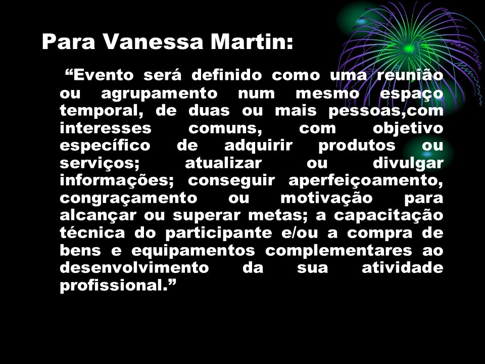 Para Vanessa Martin: