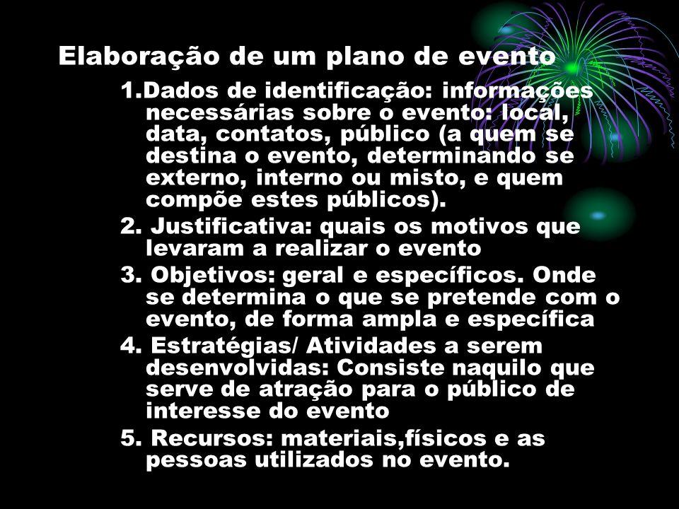 Elaboração de um plano de evento