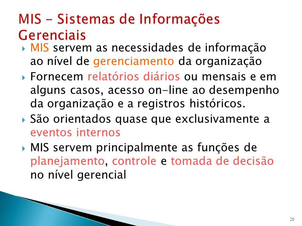 MIS - Sistemas de Informações Gerenciais
