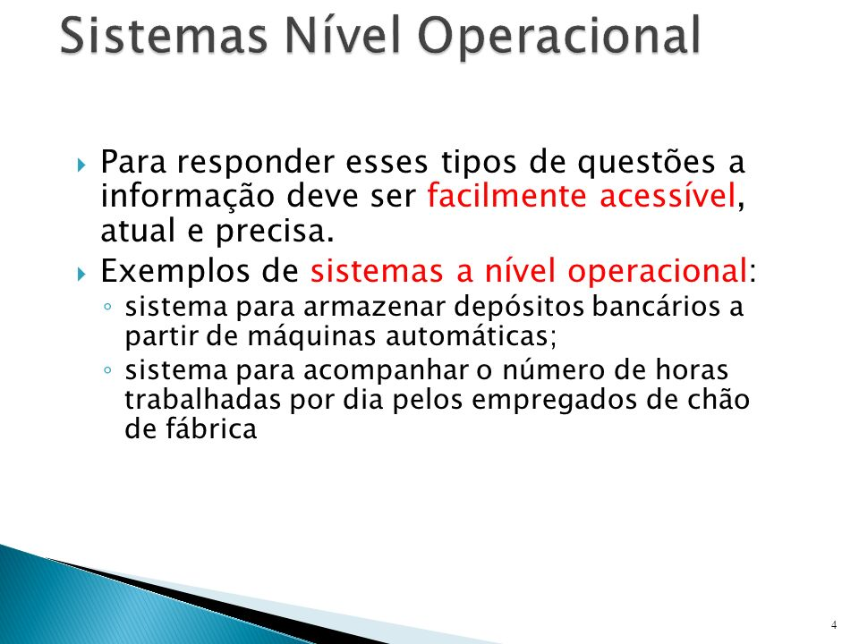 Sistemas Nível Operacional