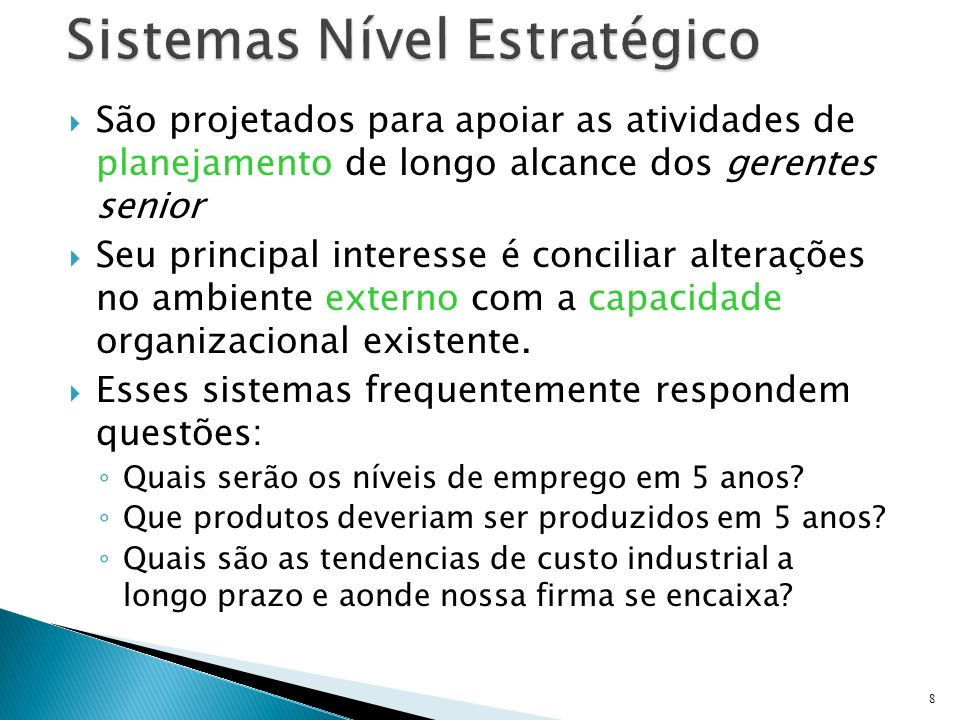 Sistemas Nível Estratégico