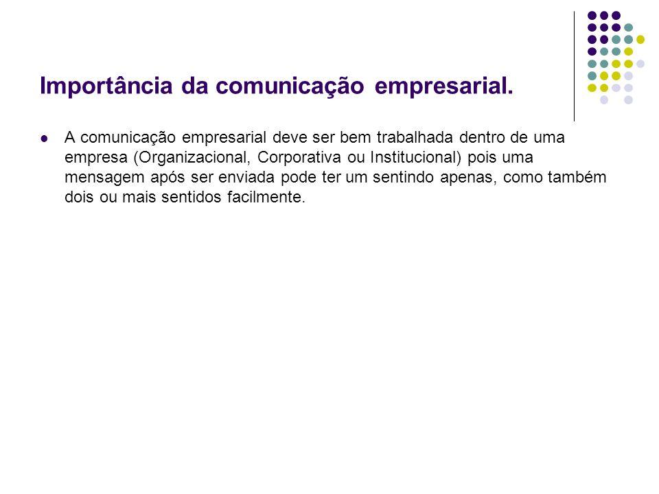 Importância da comunicação empresarial.