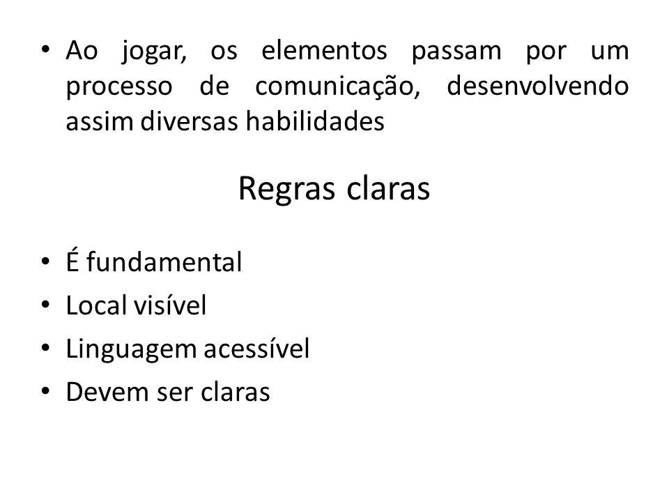 04/05/10 Ao jogar, os elementos passam por um processo de comunicação, desenvolvendo assim diversas habilidades.