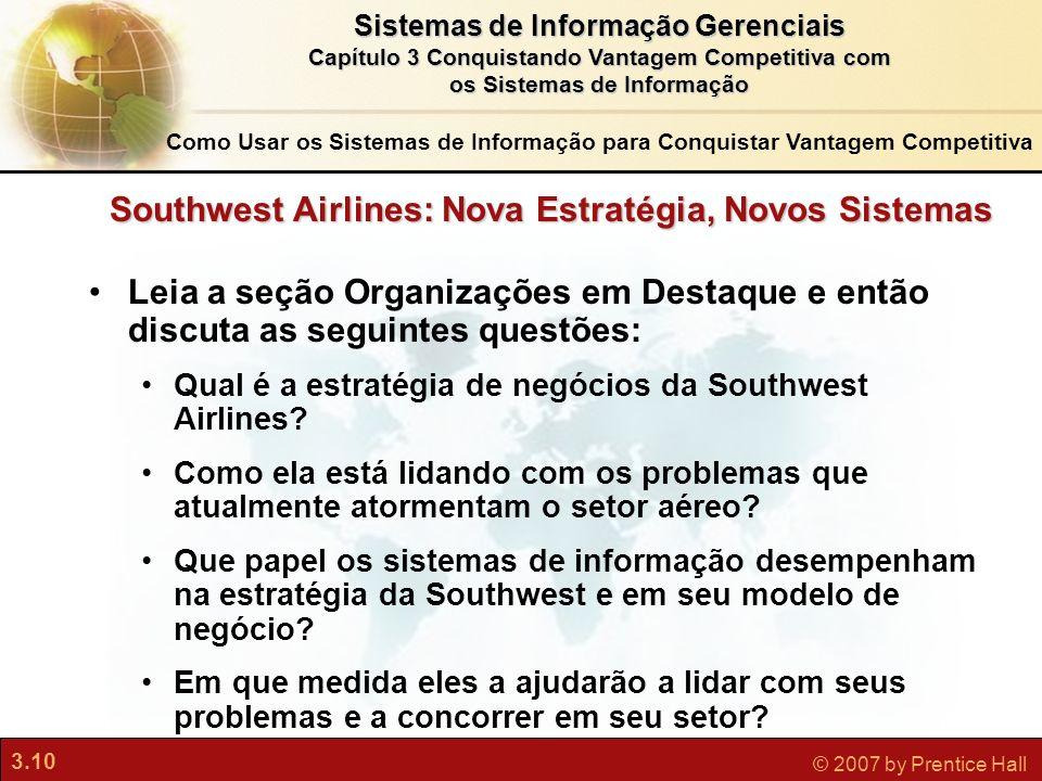 Southwest Airlines: Nova Estratégia, Novos Sistemas