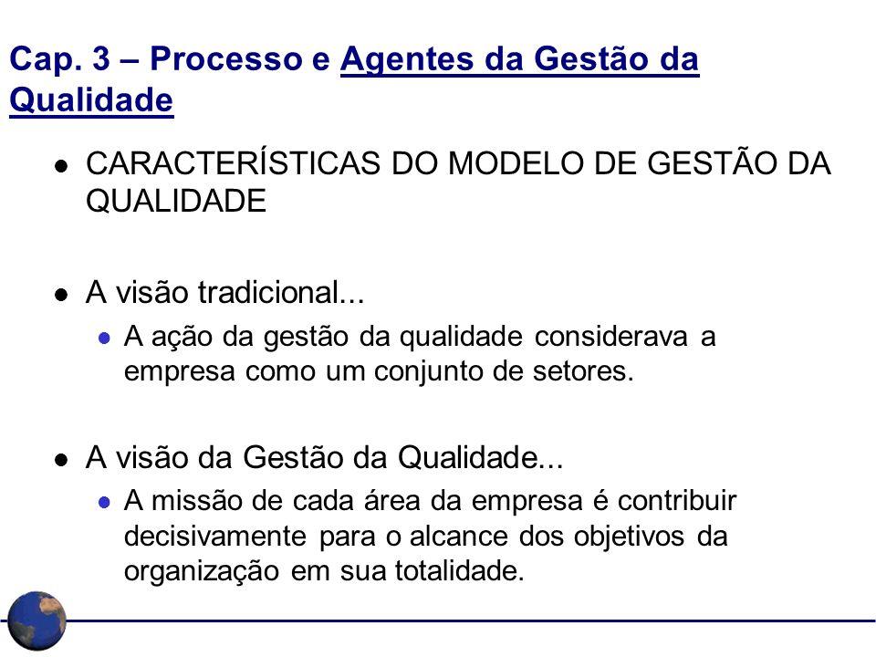 Cap. 3 – Processo e Agentes da Gestão da Qualidade