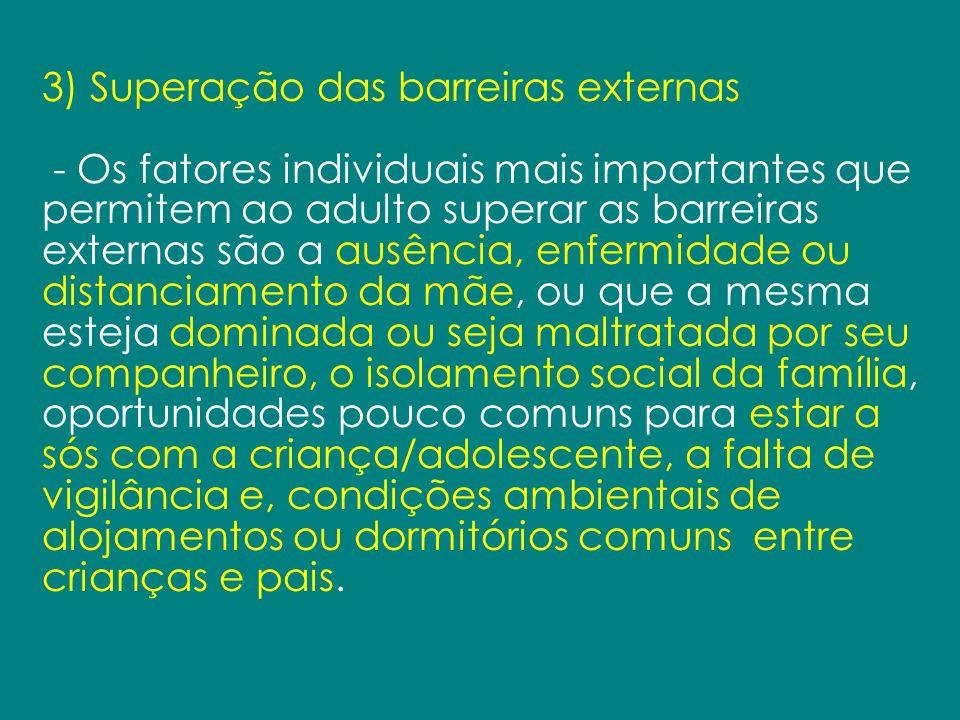 3) Superação das barreiras externas