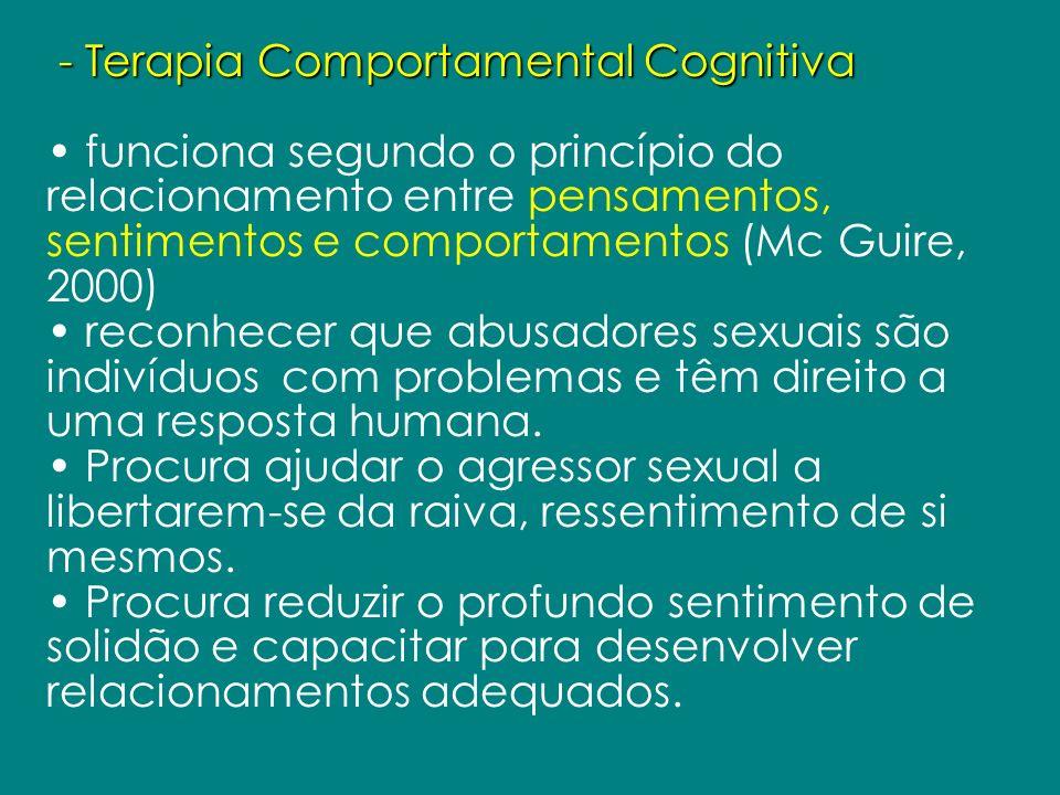- Terapia Comportamental Cognitiva