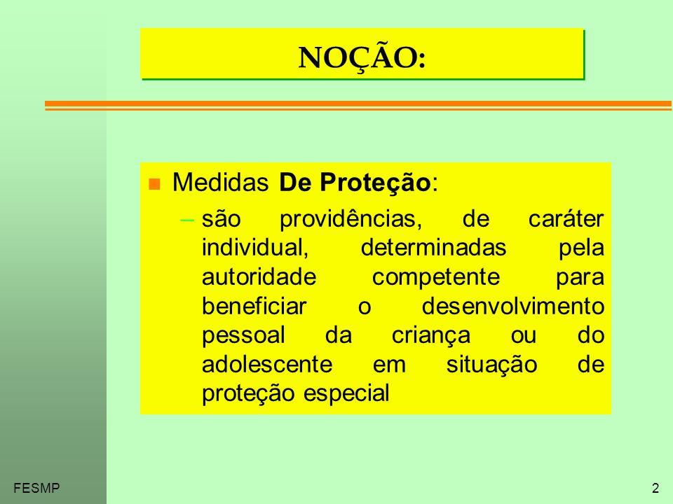 NOÇÃO: Medidas De Proteção: