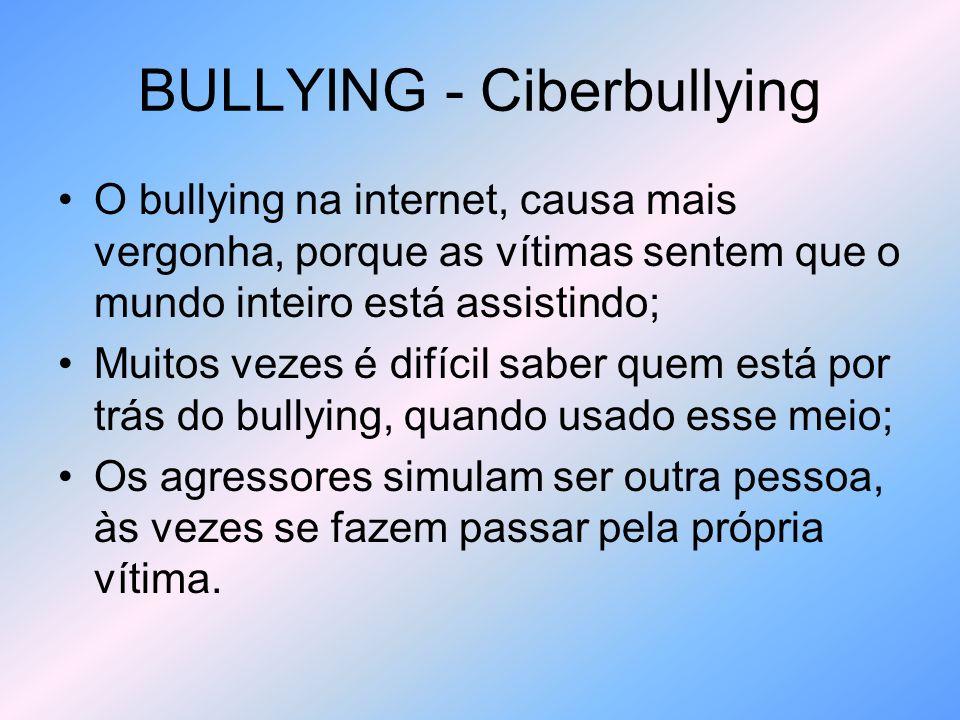 BULLYING - Ciberbullying