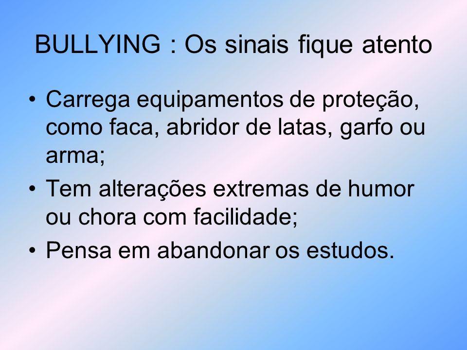 BULLYING : Os sinais fique atento