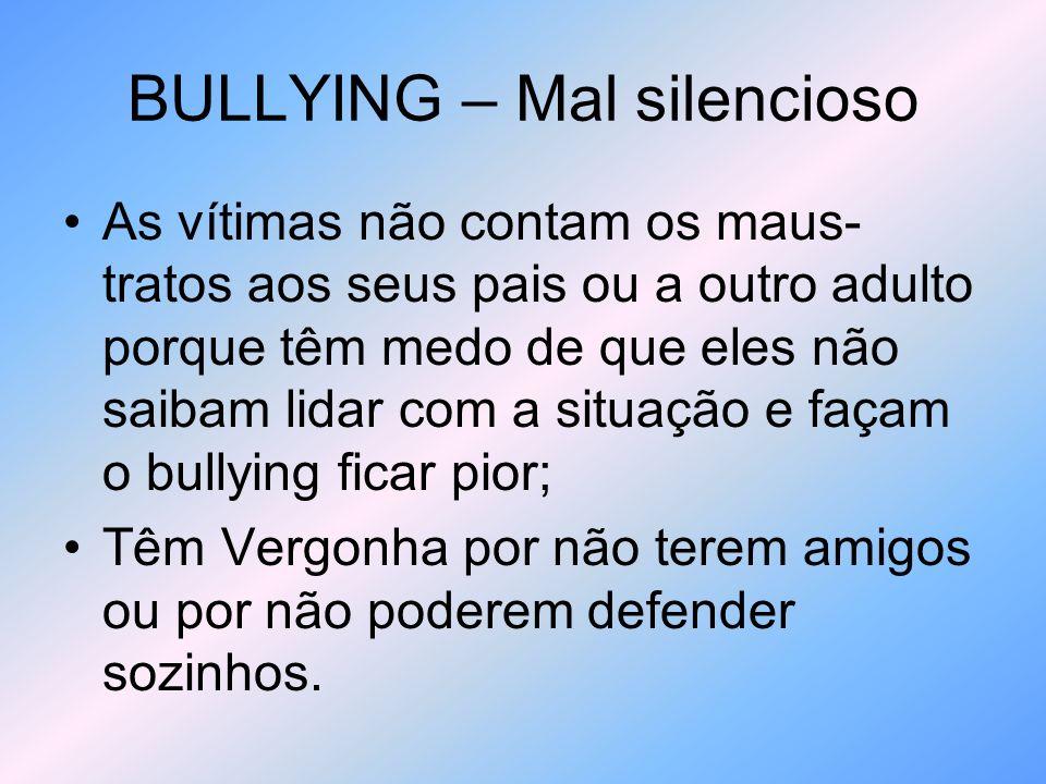 BULLYING – Mal silencioso