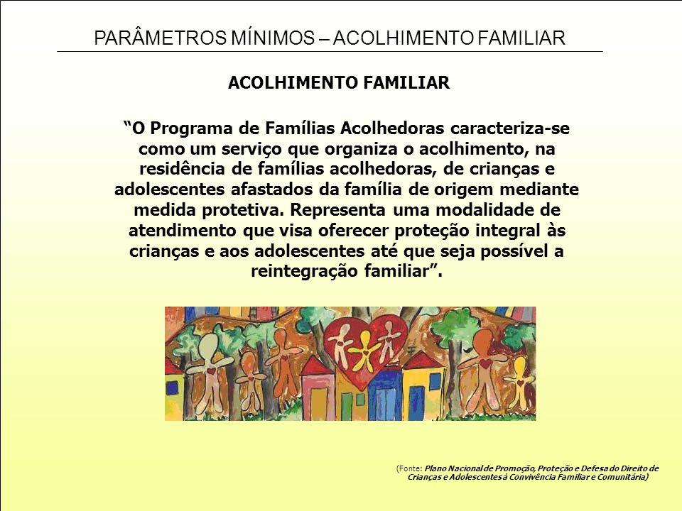 Crianças e Adolescentes à Convivência Familiar e Comunitária)