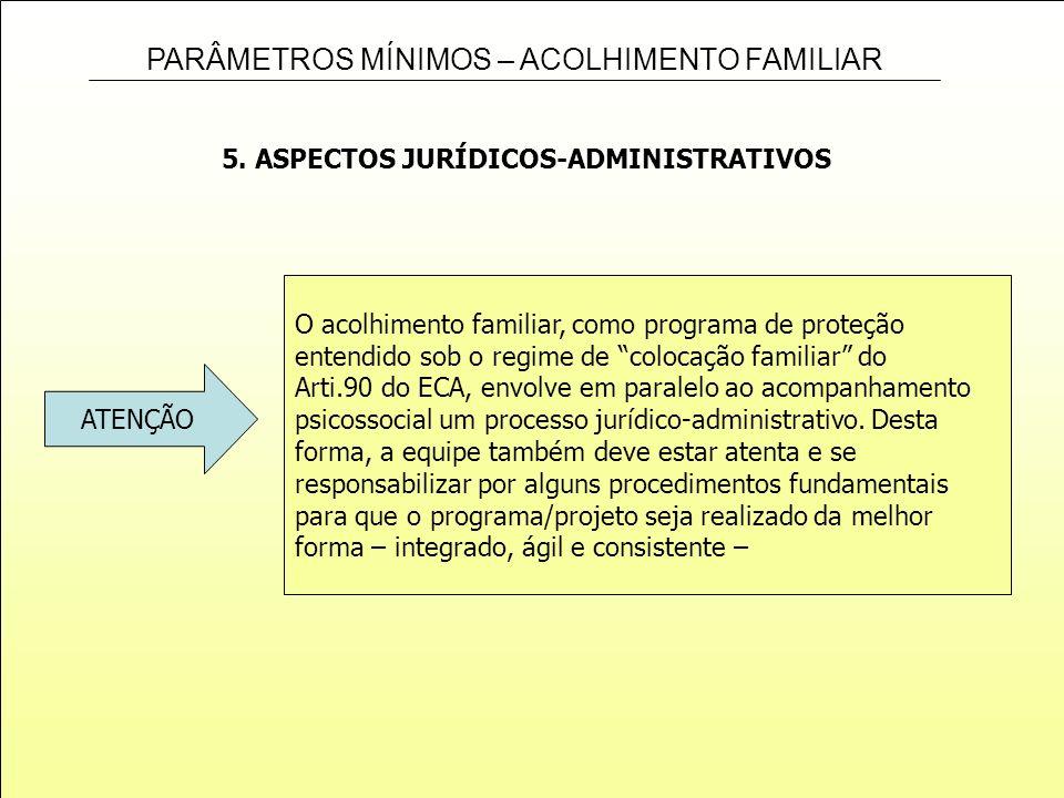 5. ASPECTOS JURÍDICOS-ADMINISTRATIVOS