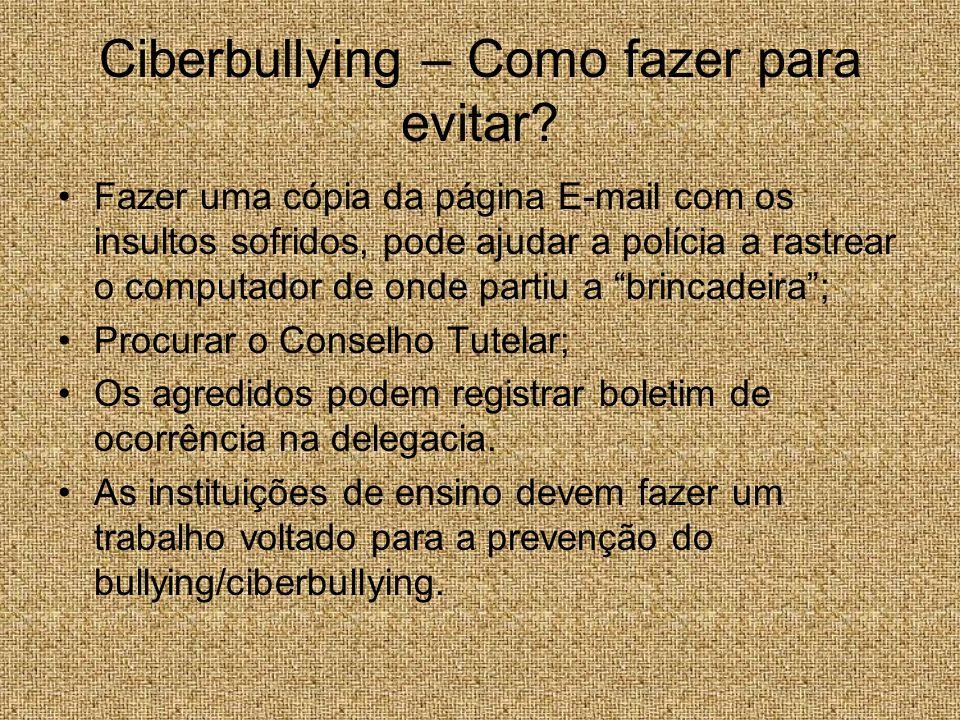 Ciberbullying – Como fazer para evitar