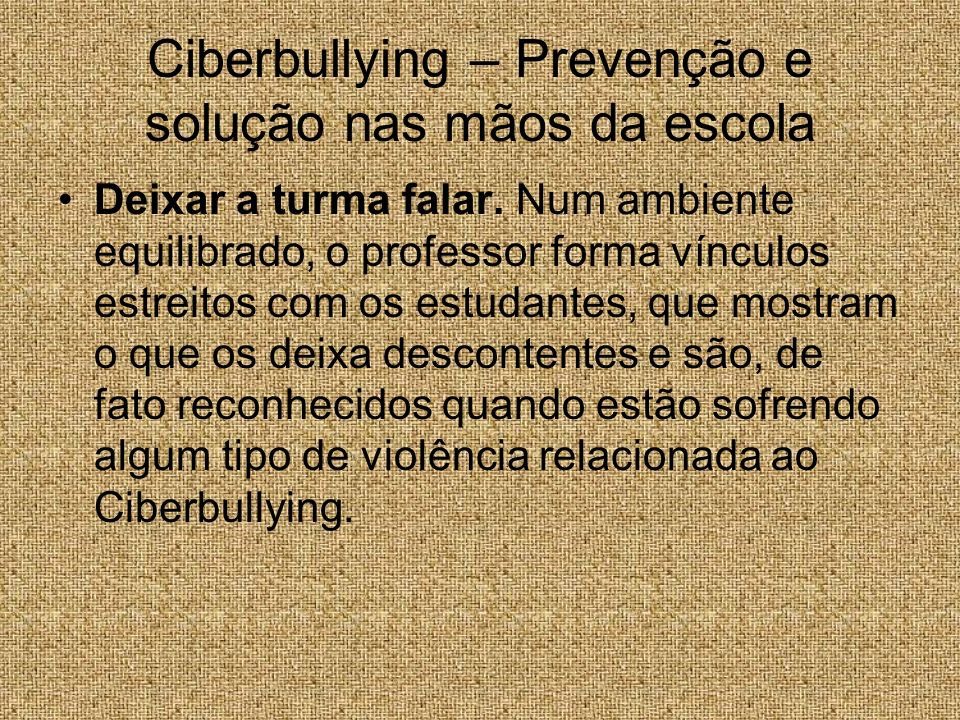 Ciberbullying – Prevenção e solução nas mãos da escola