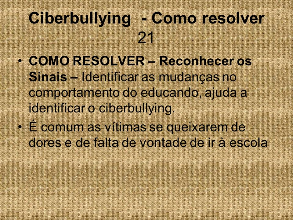 Ciberbullying - Como resolver 21