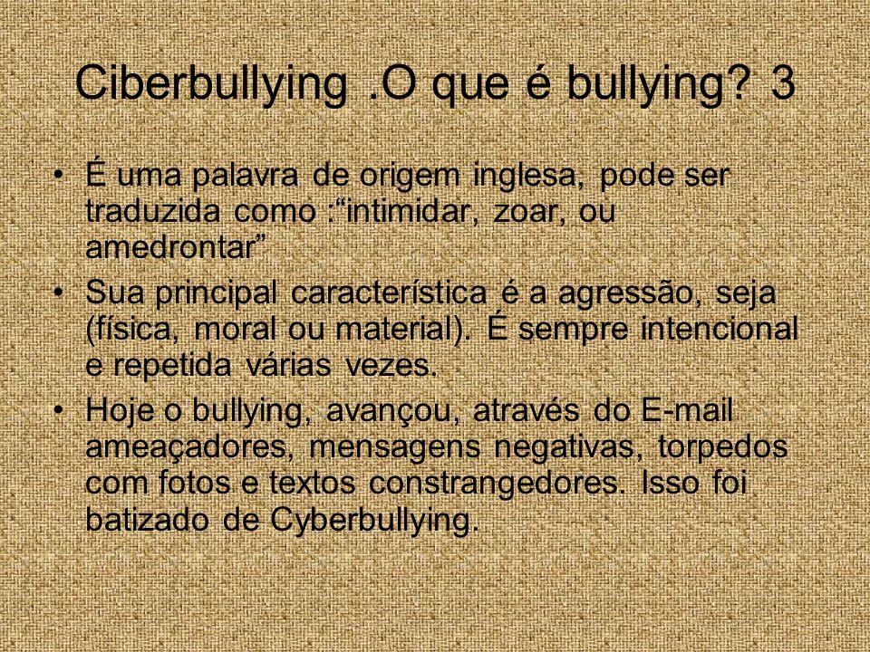 Ciberbullying .O que é bullying 3