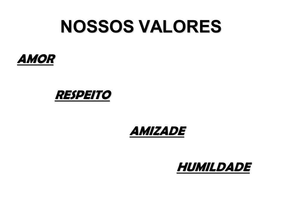 NOSSOS VALORES AMOR RESPEITO AMIZADE HUMILDADE 4
