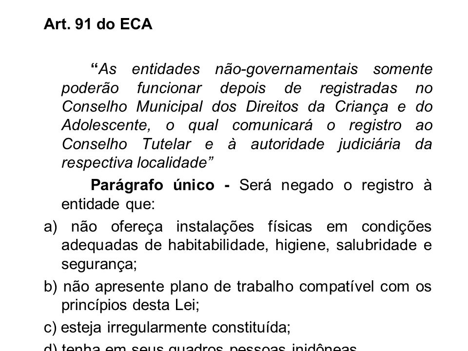 Art. 91 do ECA