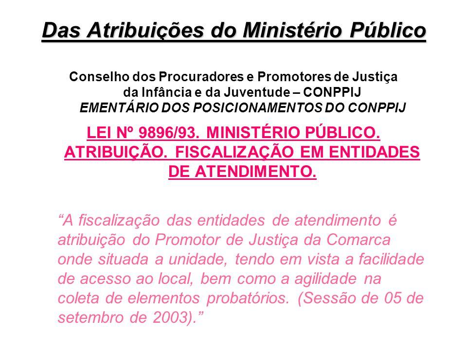 Das Atribuições do Ministério Público