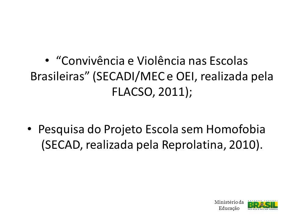 Convivência e Violência nas Escolas Brasileiras (SECADI/MEC e OEI, realizada pela FLACSO, 2011);