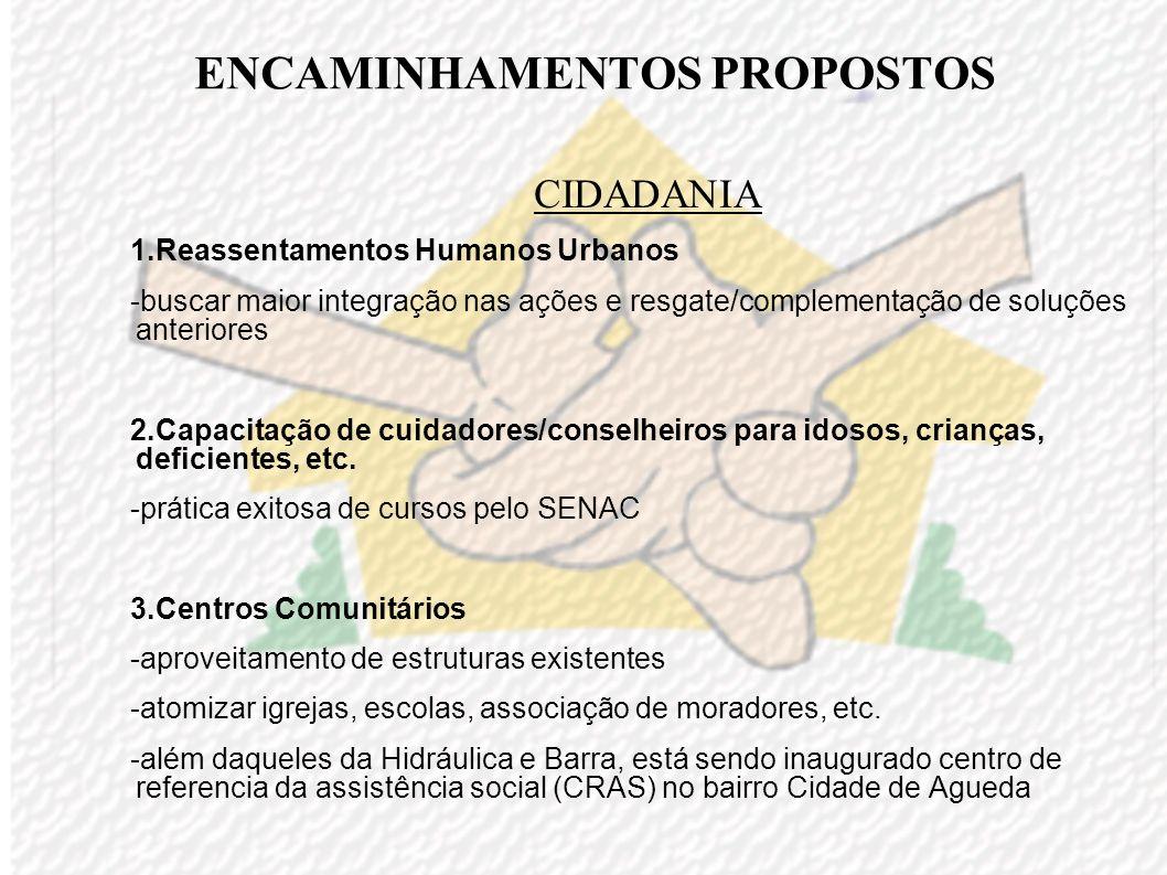 ENCAMINHAMENTOS PROPOSTOS