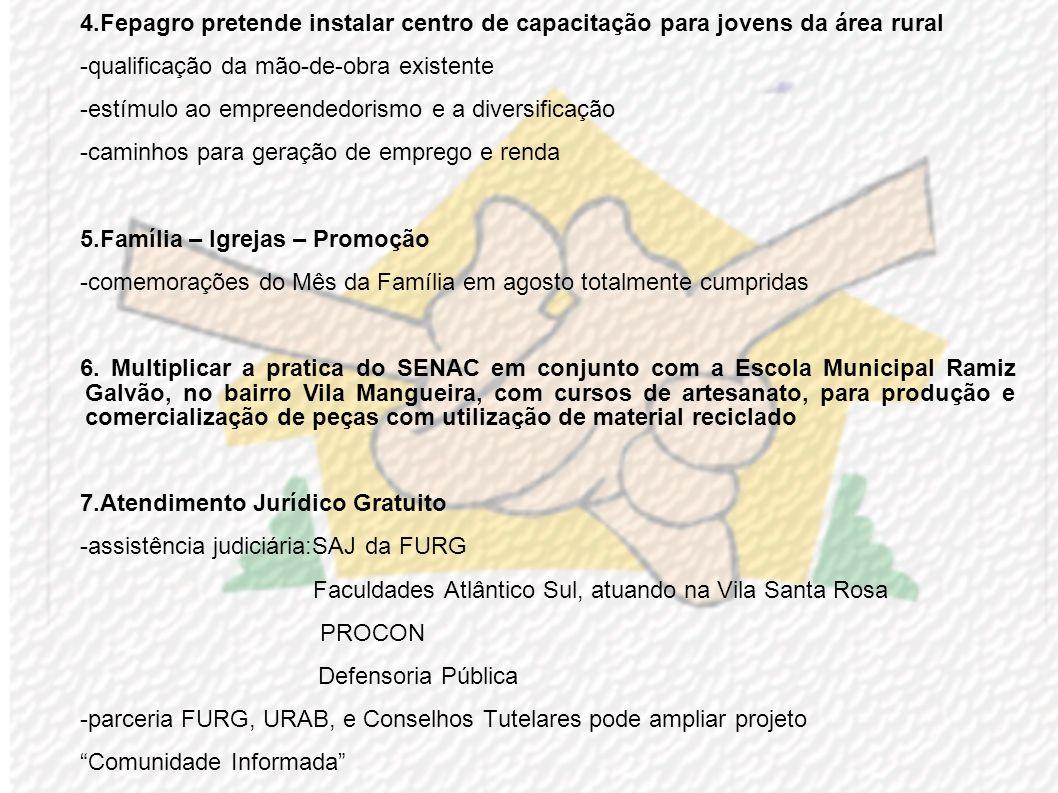 4.Fepagro pretende instalar centro de capacitação para jovens da área rural